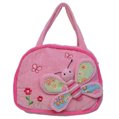 Pink Butterfly Design Handbag