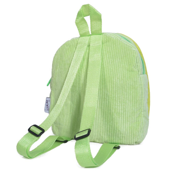 Green Butterfly Design Backpack - Twinkie - Back View