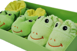 Frog Booties and Slippers Set