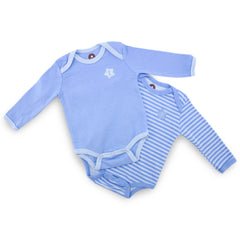 Blue 2 Pieces Long Sleeve Bodysuit
