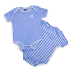 Blue 2 Pieces Short Sleeve Bodysuit
