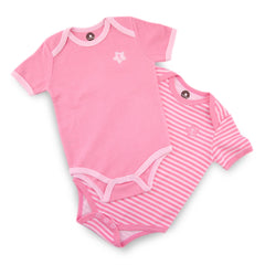 Pink 2 Pieces Short Sleeve Bodysuit
