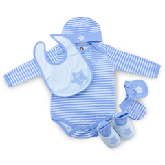Blue Twinkie 6 Piece Newborn Baby Layette set (0-6 month)