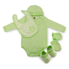 Green twinkie 6 Piece Newborn Baby Layette set (0-6 month)