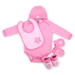 Pink Twinkie 6 Piece Newborn Baby Layette set (0-6 month)