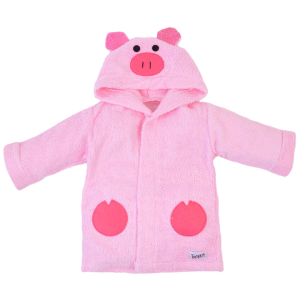 Pink Piggy Bath Robe