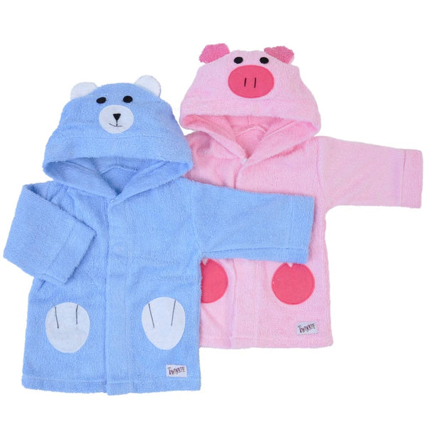 Blue Bear Bath Robe