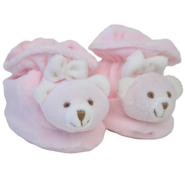 Pink Baby Bear Booties at Twinkie