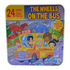 24 Songs & 24 Pieces Puzzle Set- The Wheels On The Bus