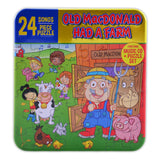 24 Songs & 24 Pieces Puzzle Set- Old Macdonald Had A Farm