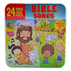 24 Songs & 24 Pieces Puzzle Set- Bible Songs