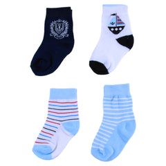 4 Pairs Graphic Sailor Socks
