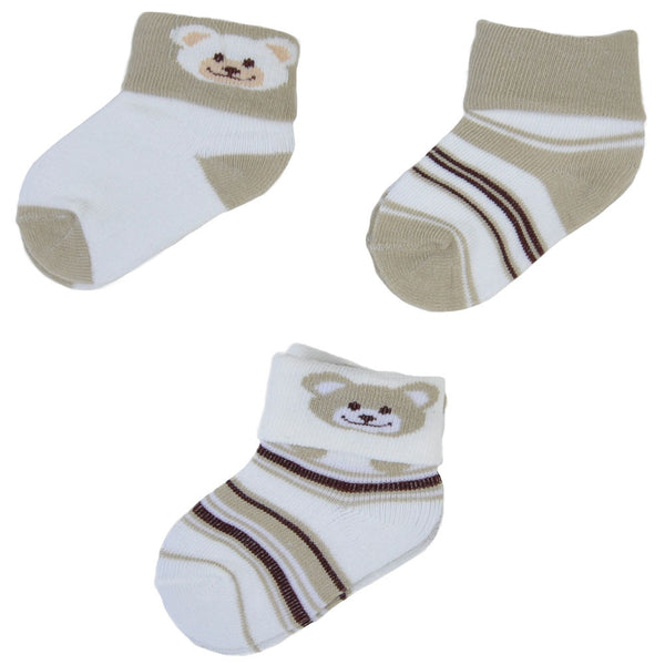 3 Pairs Graphic Bear Socks