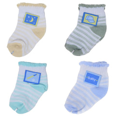 4 Pairs Patched Boy Socks