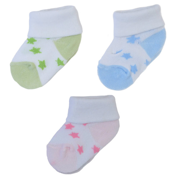 3 Pairs Graphic Star Ankle Socks