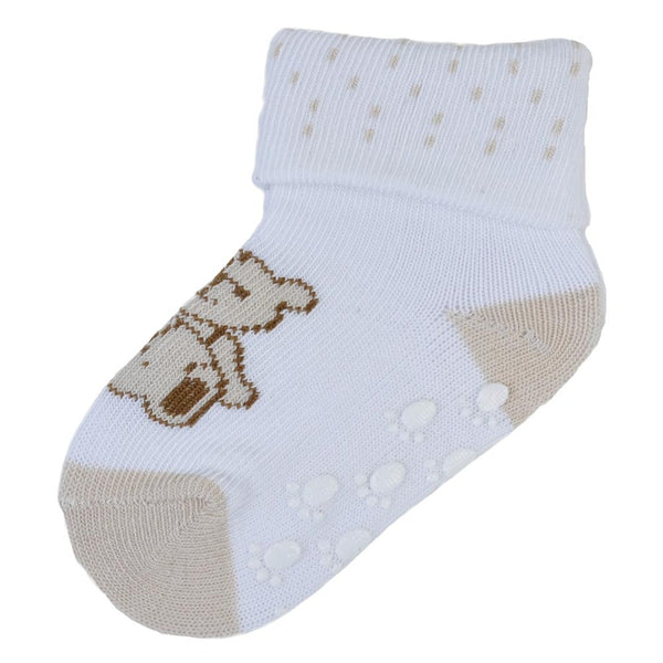 3 Pairs Anti-Slip Graphic Bear Socks