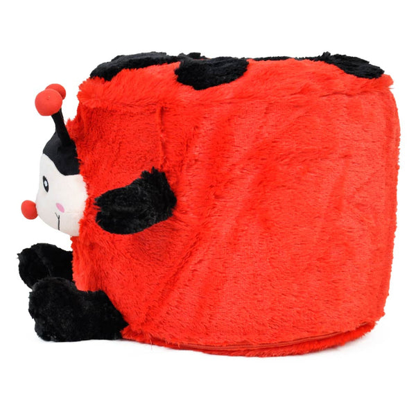 Fuzzy Ladybug Inflatable Stool - Twinkie - Side View