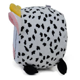 Fuzzy Cow Inflatable Stool - Twinkie - Side View