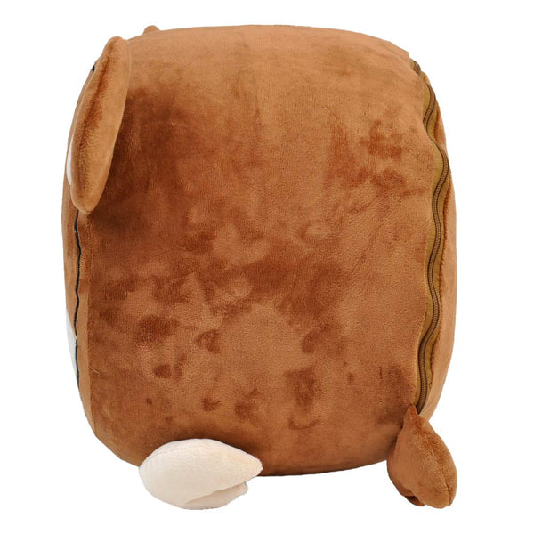 Fuzzy Monkey Inflatable Stool - Twinkie - Side View