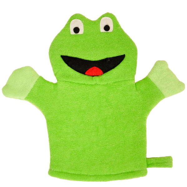 Twinkie Frog Design Shower Mitt