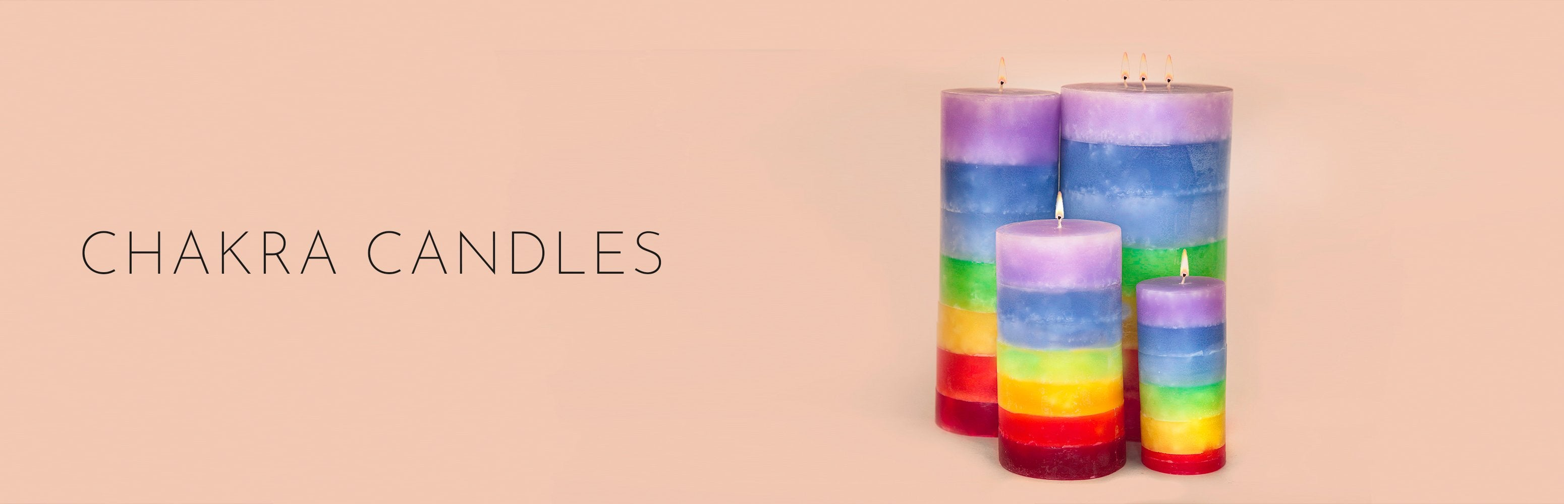 Stone Candles Chakras Collection