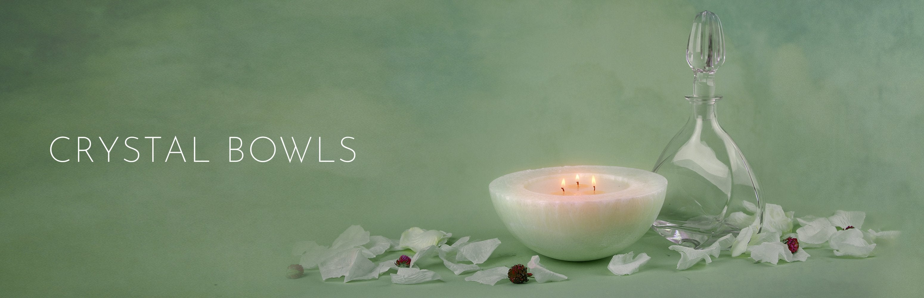 Stone Candles Crystal Bowl Collection Banner