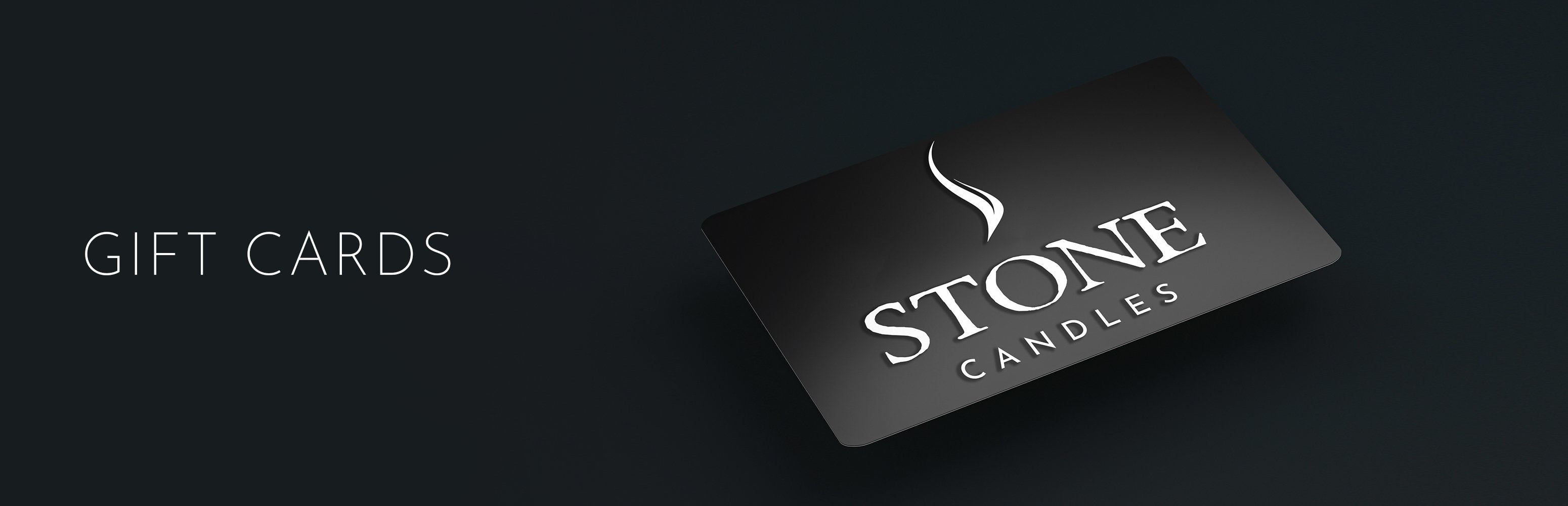 Stone Candles Gift Card Collection Banner