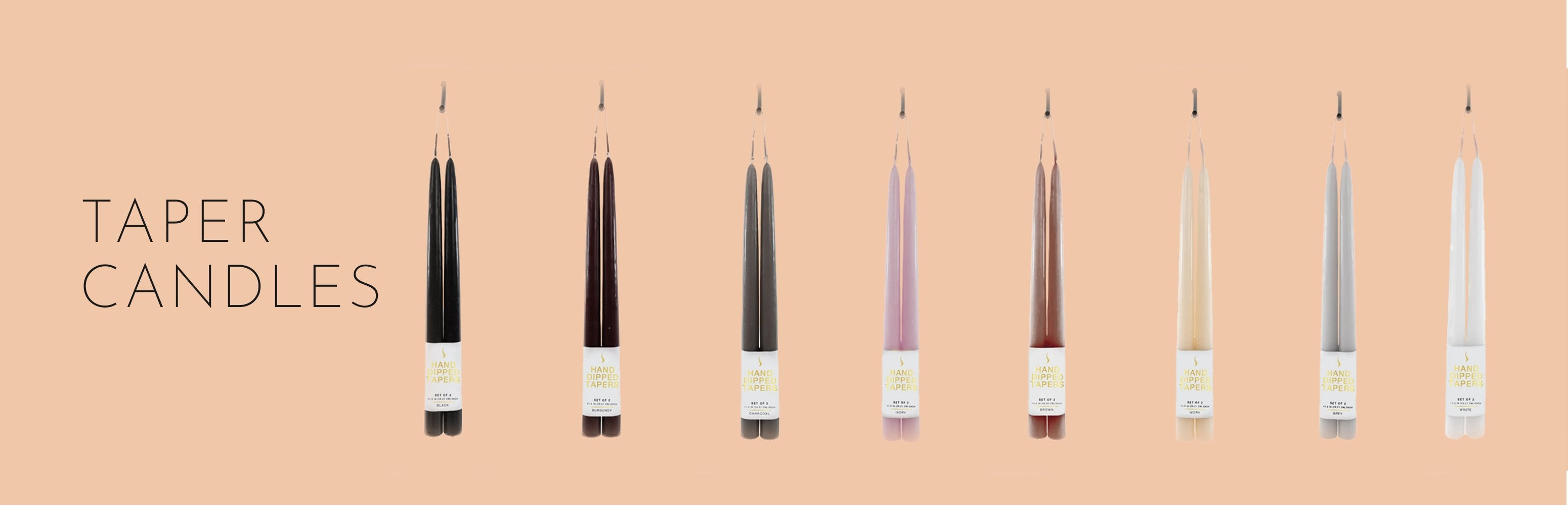 Stone Candles Tapers Collection Banner