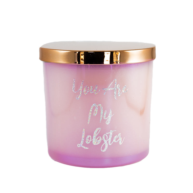 Glitter Candle - Valentines Day - You Are My Lobster