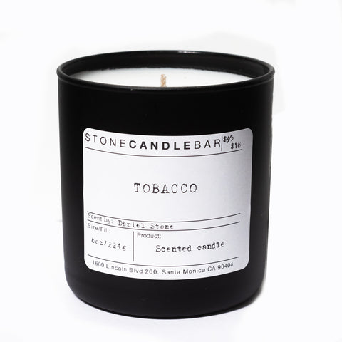 Tobacco 8oz Candle - By Stone Candle Bar