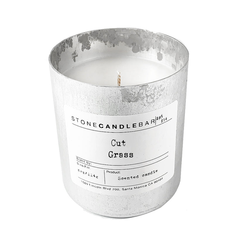 Cut Grass 8oz Candle - by Stone Candle Bar