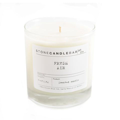 Fresh Air 8oz Candle - By Stone Candle Bar