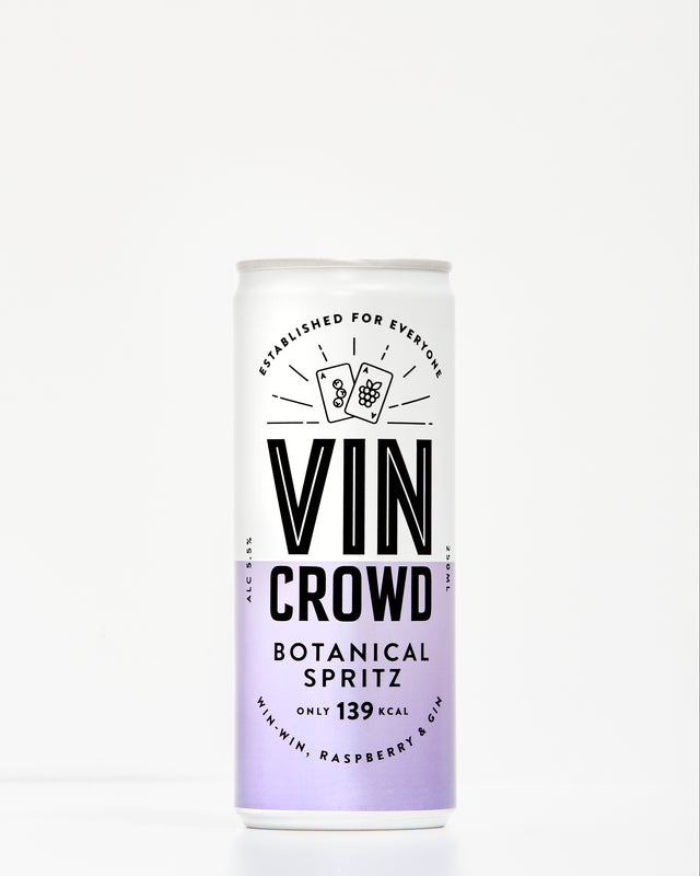 botanical spritz, vin crowd, can wine, wine can, skinny wine, low calorie wine, botanicalscan