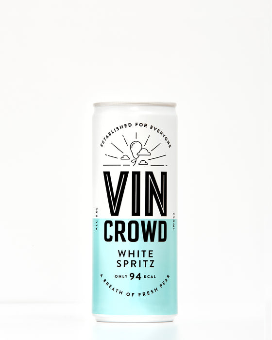white wine spritz, vin crowd, can wine, wine can, skinny wine, low calorie wine, white wine can