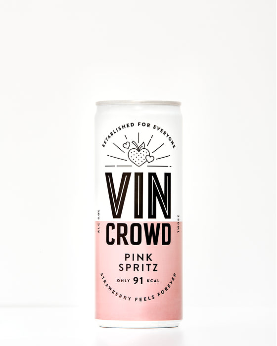 Vin Crowd, Pink Spritz, Canned Wine, Low Calorie wine, wine can, skinny wine, light wine,