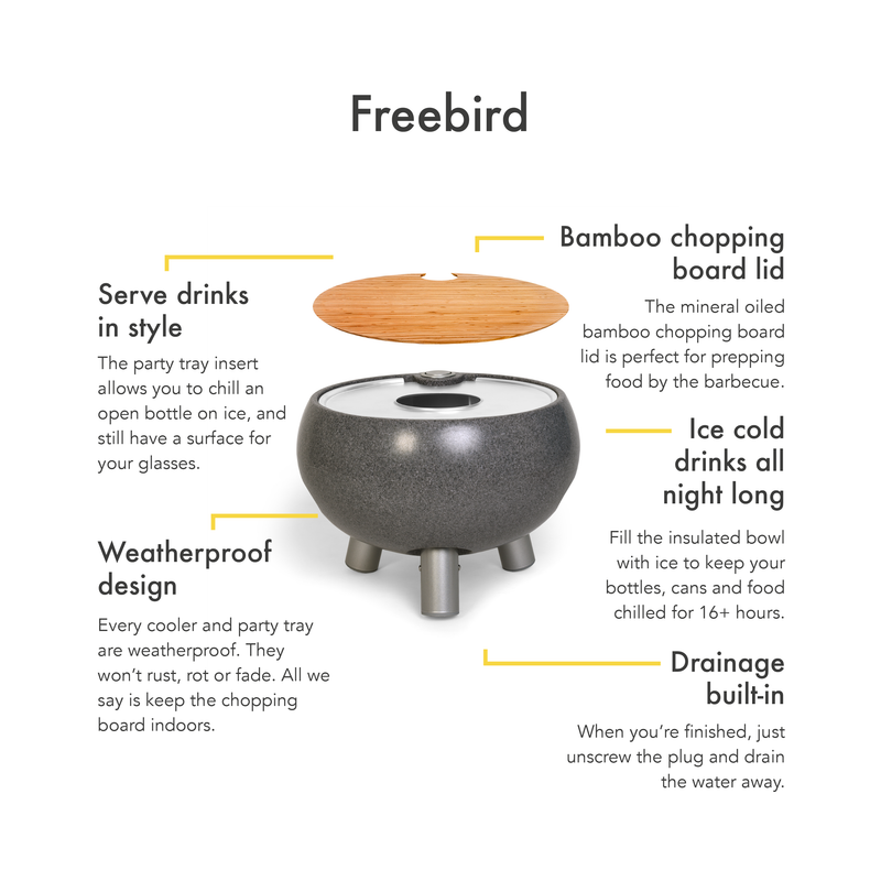 Dark Stone Cooler Table 'FreeBird'