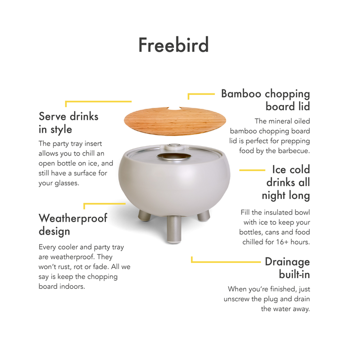 Grey Cooler Table 'FreeBird'