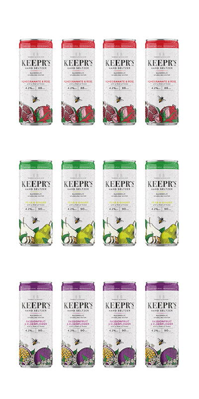 Keepr's Mixed Seltzer Case 12x250ml