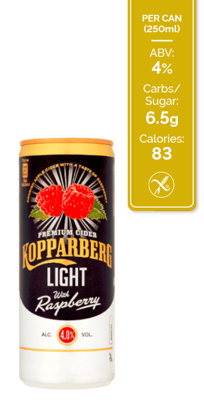 Kopparberg Raspberry Light - 12x250ml