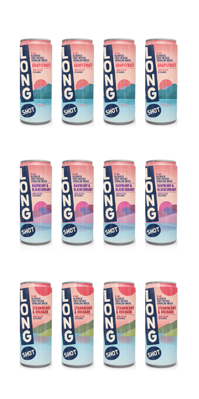 Long Shot Hard Seltzer Mixed Case - 12x250ml