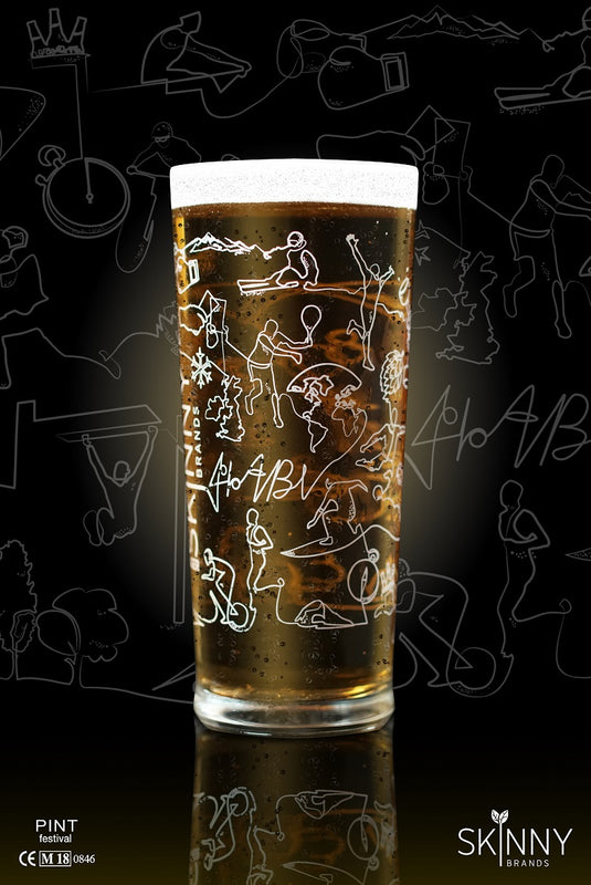 Skinny Lager Half Pint Glass