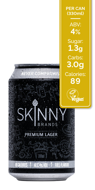 SkinnyBrands Lager Cans (24 Pack)
