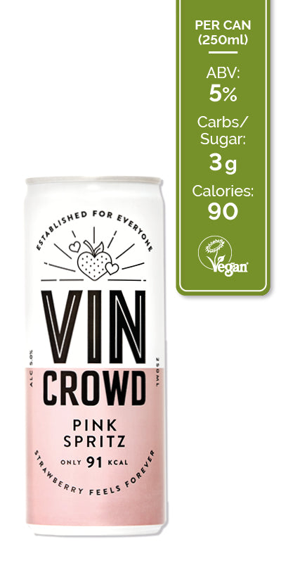 Vin Crowd Wine Pink Spritz 12x250ml