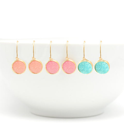 Group of Druzy Earrings
