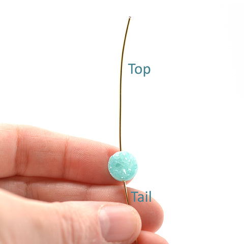 top and tail of gold wire
