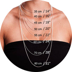 Necklace Lengths On Female Model