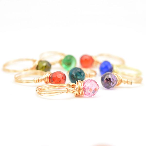 wire wrapped rings gold