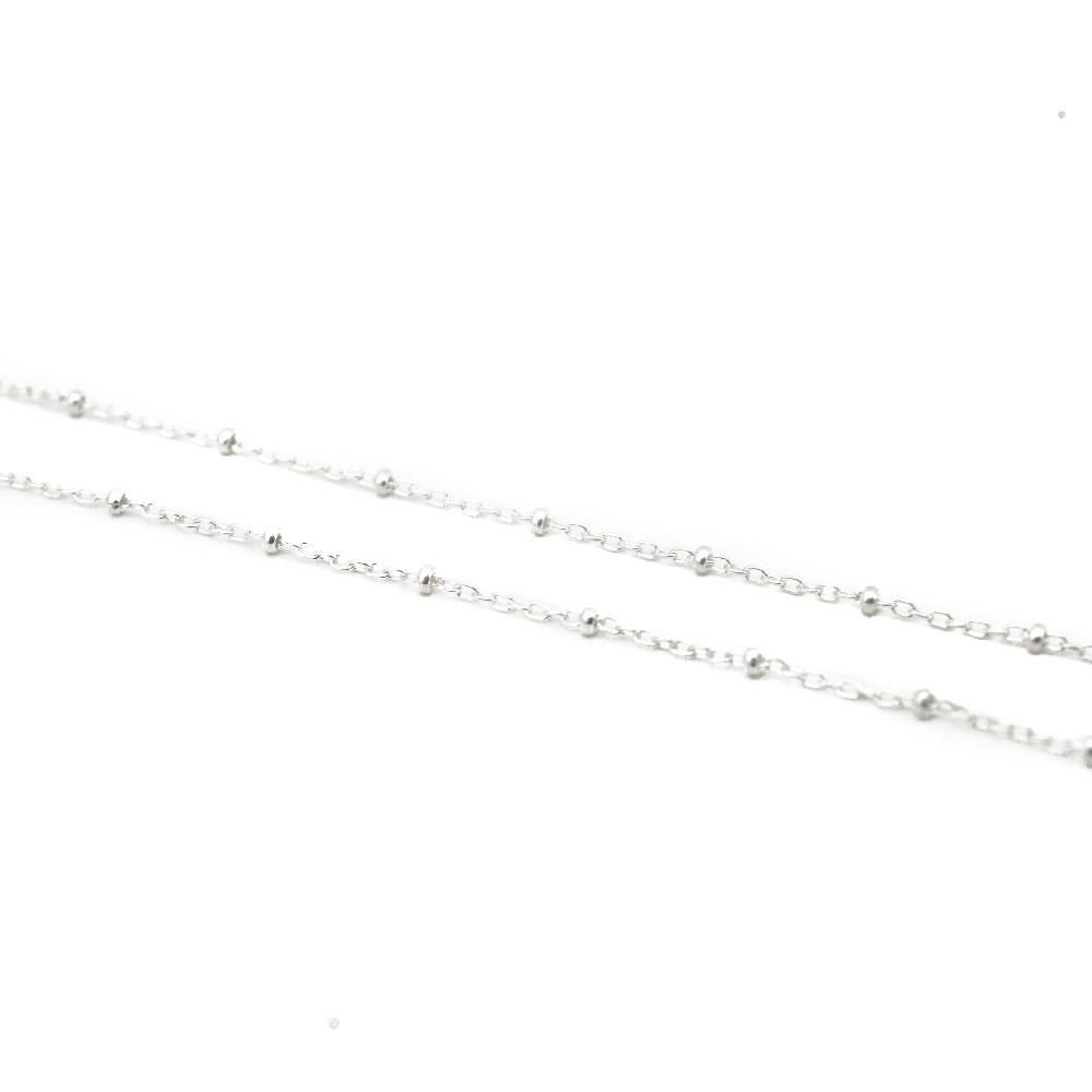 sterling silver satelite bead chain
