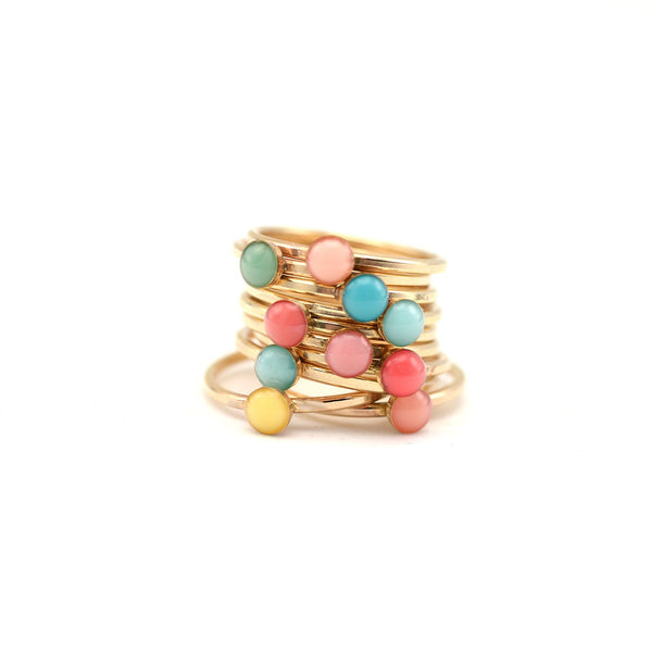 stackable birthstone ring • mother's ring