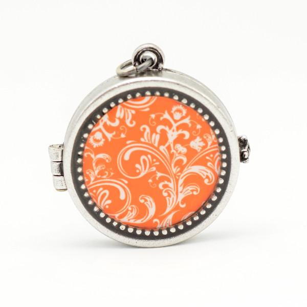 Orange Swirl Locket